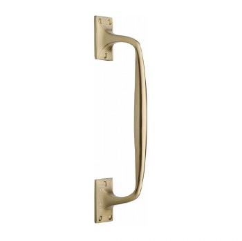 Heritage Cranked Pull Handle V1150 310 Satin Brass