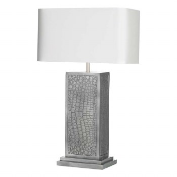 David Hunt CRO4299 Croc Table Lamp with Shade Pewter