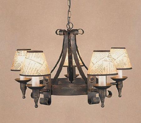 Cromwell 5 Light Chandelier Black Gold