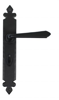 From The Anvil Cromwell Bathroom Door Handles Black