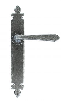 From The Anvil Cromwell Door Handles Pewter