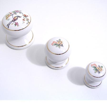 Porcelain Cupboard Door Knob Festoon 40mm