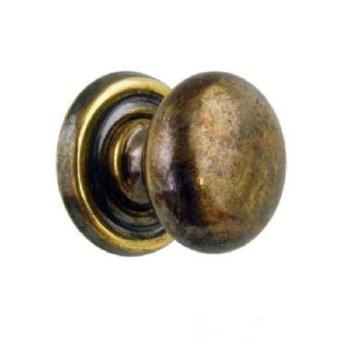 """Armac Cupboard Door Knob 3/4"""" Antique Brass"""