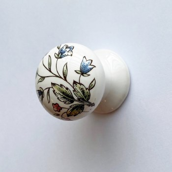 Porcelain Cupboard Knob 30mm Victoriana