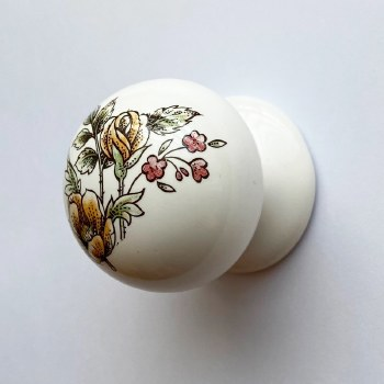 Porcelain Cupboard Knob 40mm Victoriana