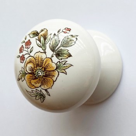 Porcelain Cupboard Knob 50mm Victoriana