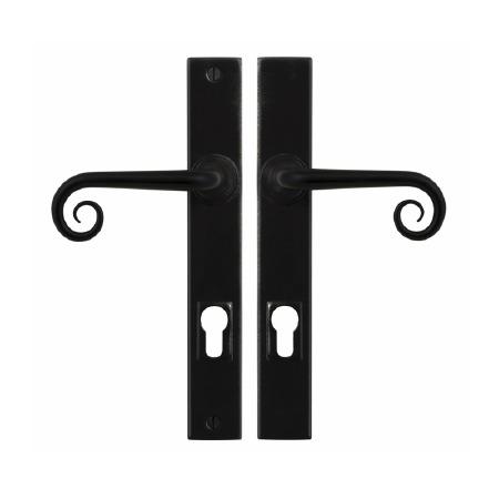 Stonebridge Curl Entry Multipoint Door Handle Armor Coat Flat Black