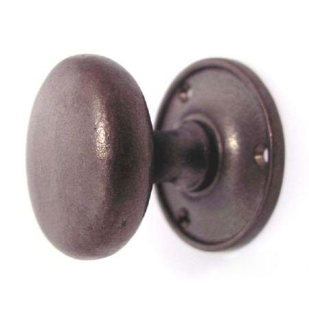 Aston Cushion Door Knobs Rustic Solid Bronze 57mm