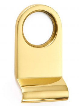 Croft Cylinder Pull 1763 Polished Brass Unlacquered