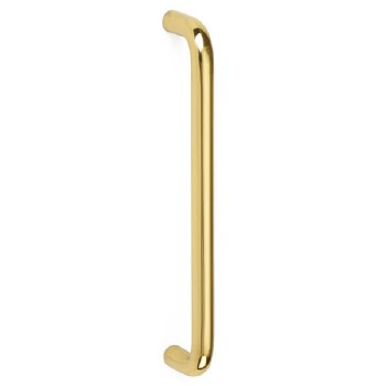 """Croft D Pull Handle 6""""x3/8"""" Polished Brass Unlacquered"""
