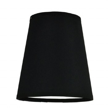 """Black Shade 6"""" with White Lining"""