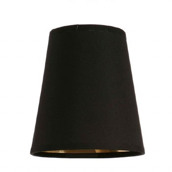 """Black Shade 6"""" with Gold Lining"""
