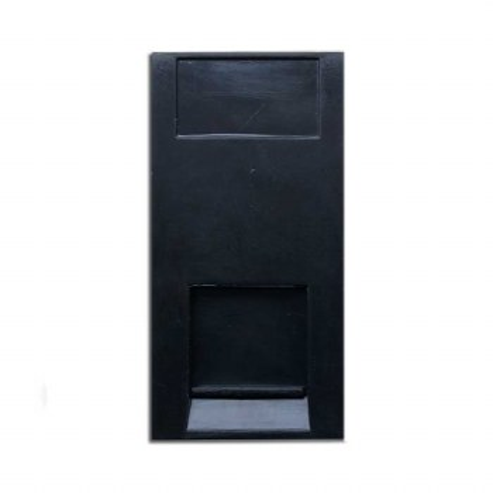 RJ45 Cat 5 Data Module Black 50x25mm