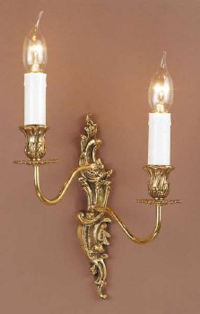 Dauphine Double Wall Light Left Hand Polished Brass