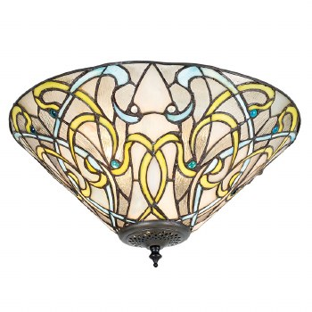 Interiors 1900 Dauphine Tiffany Medium Flush Light 70700