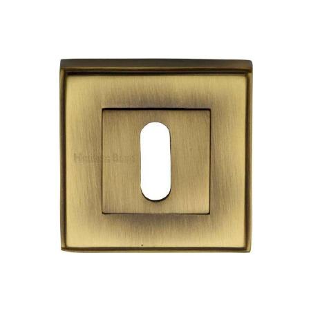 Heritage DEC7000 Square Escutcheon Antique Brass Lacquered