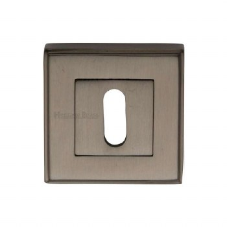Heritage DEC7000 Square Escutcheon Matt Bronze Lacquered