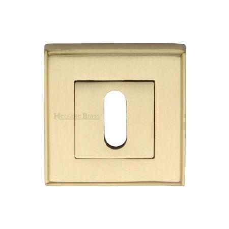 Heritage DEC7000 Square Escutcheon Satin Brass Lacquered