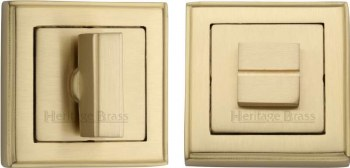 Heritage DEC7030 Bathroom Thumb Turn & Release Satin Brass Lacquered