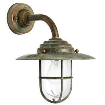 Messina Outdoor Deck Light Aged Copper with Clear Glass