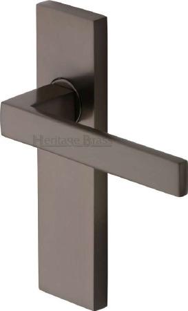 Heritage Delta Latch Door Handles DEL6010 Matt Bronze
