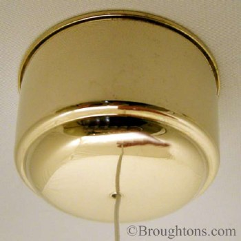 Dimmable Ceiling Pull Switch Antique Gold