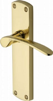 Heritage Diplomat Latch Door Handles DIP7810 Polished Brass Lacquered