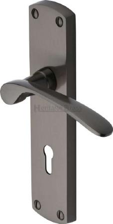 Heritage Diplomat Door Lock Handles DIP7800 Matt Bronze