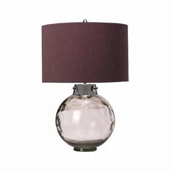 Elstead Kara Table Lamp Smoked Glass with Shade