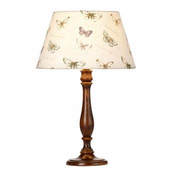 Elstead Painswick Table Lamp Medium Walnut with Shade