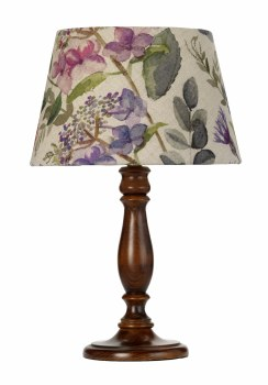 Elstead Painswick Table Lamp Small Walnut with Shade
