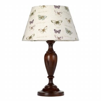 Elstead Woodstock Table Lamp Large Walnut with Shade