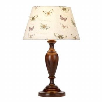 Elstead Woodstock Table Lamp Medium Walnut with Shade