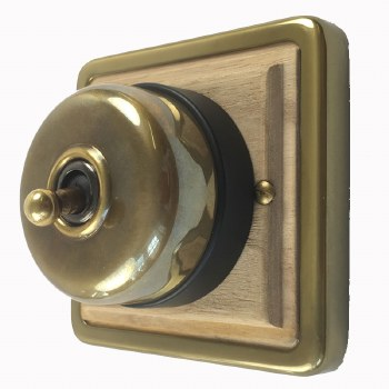 Heritage Period Dome Switch Old Brass