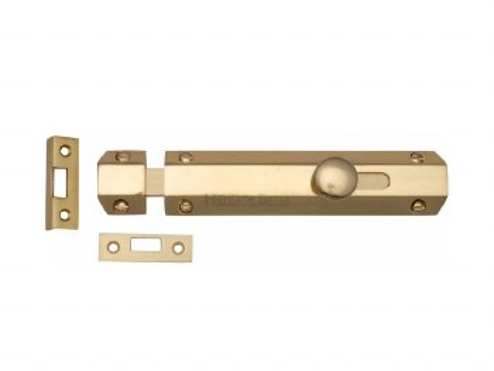 "Heritage Flat Bolt C1685 6 Polished Brass 6"""