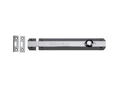 """Heritage Flat Bolt C1685 8 Polished Chrome 8"""""""