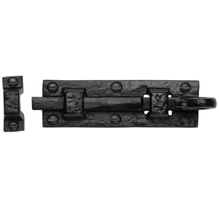 Heritage Tudor Door Bolt Straight TC158 76mm Black Ironwork