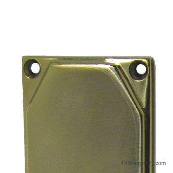 """Art Deco 12"""" Finger Plate 9541 Polished Brass Unlacquered"""