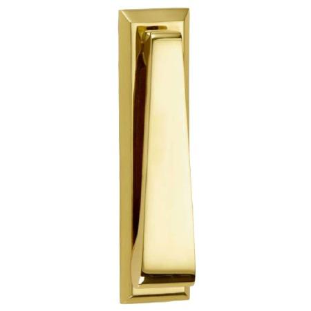 Croft Slim Door Knocker 1750 Polished Brass Unlacquered
