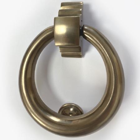 Aston Ring Door Knocker Antique Brass Unlacquered