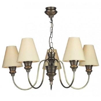 David Hunt DOR0500 Doreen 5 Light Chandelier Bronzed with Silk Shades