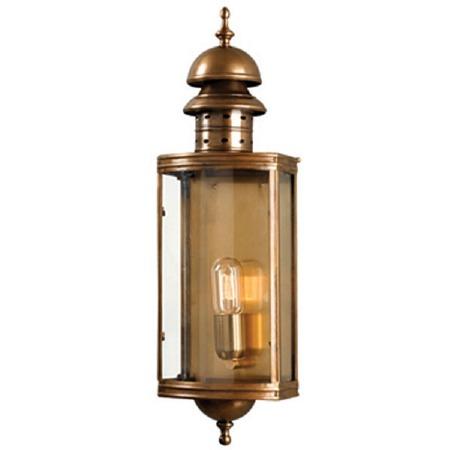 Elstead Downing Street Outdoor Wall Lantern Antique Brass
