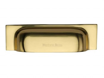 Heritage Drawer Pull C2766 96mm Polished Brass