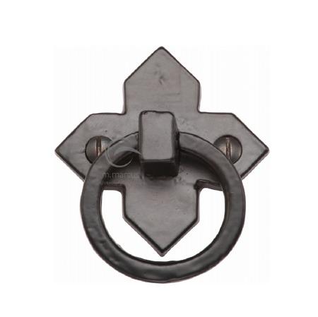 Heritage Drop Pull Handle FB6389 Black Iron Rustic