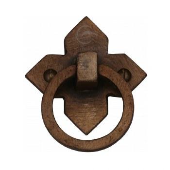 Heritage Drop Pull Handle RBL6389 Solid Bronze Rustic