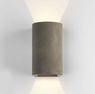 Dunbar Outdoor Down & Up Wall Light 160 Concrete