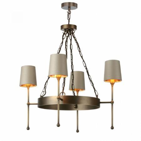 David Hunt DUR0475 Durrel 4 Light Pendant Antiqe Brass