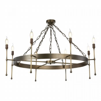 David Hunt DUR0875 Durrel 8 Light Pendant Antique Brass