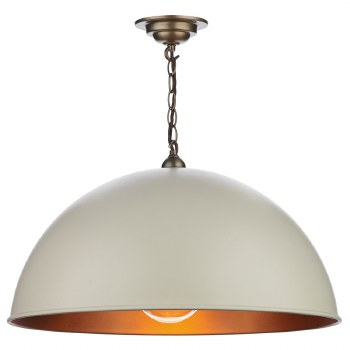 David Hunt EAL0112 Ealing Pendant Cotswold Cream 55cm