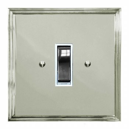 Edwardian Rocker Light Switch 1 Gang Polished Nickel